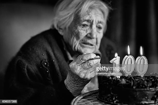 Grandmother at her birthday