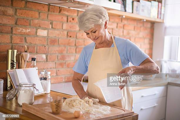 Grandmother bakes the best cakes. Debica, Poland