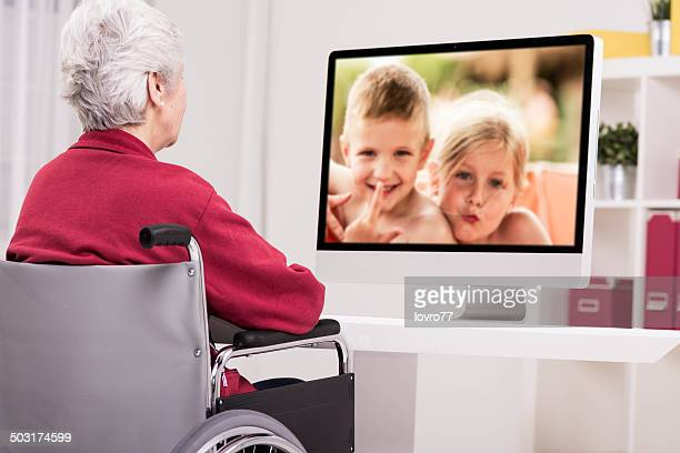 Grandmother has a video call