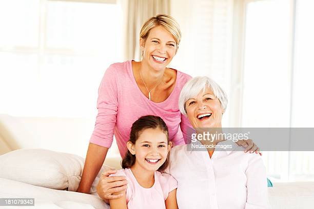 Grandmother, Mother and Granddaughter Spending Time Together At