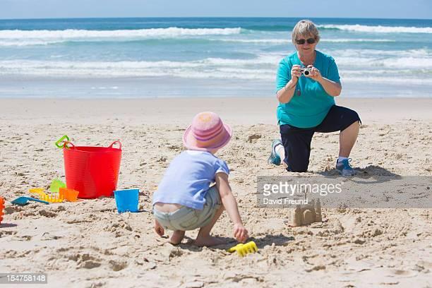 Grandmother Photographing Grandchild