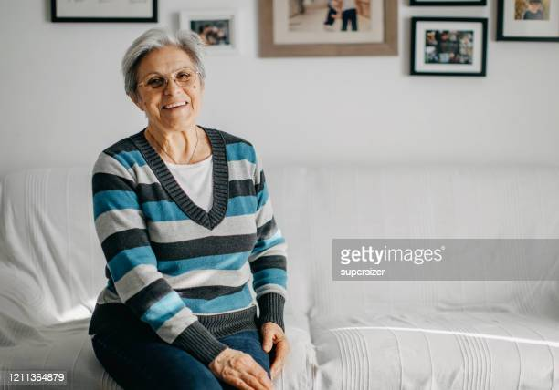 grandmother portrait - grandmother stock pictures, royalty-free photos & images