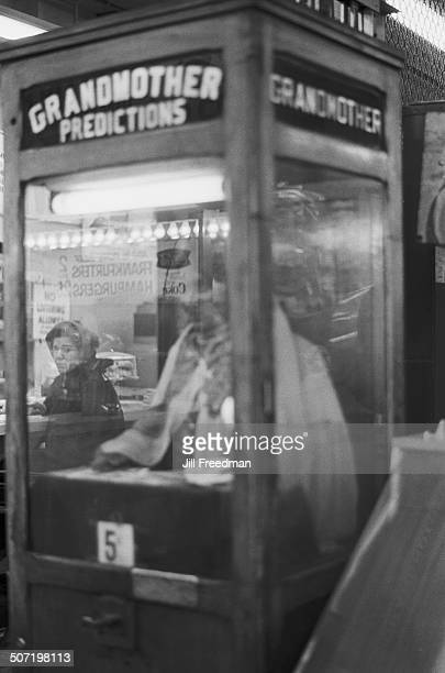A 'Grandmother Predictions' fortune telling machine in New York City USA 1966