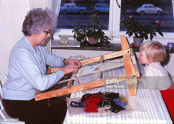 grandmother weaves - 1967 stock pictures, royalty-free photos & images