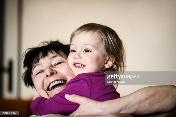 Grandmother with her grandchild