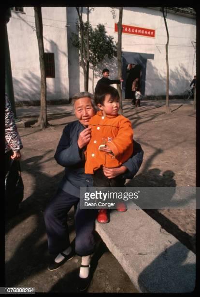 Grandmother With Little Granddaughter in Beijing