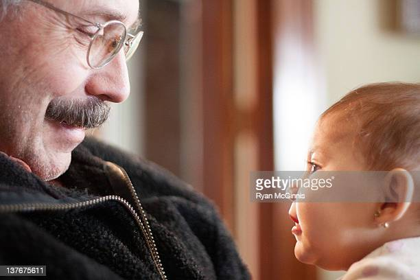 Grandpa and granddaughter