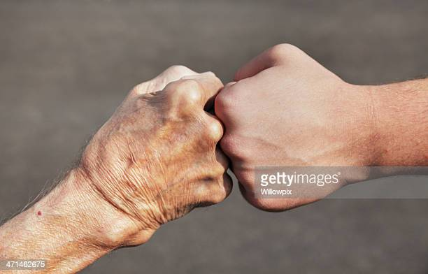 Grandpa and Grandson Fist Bump
