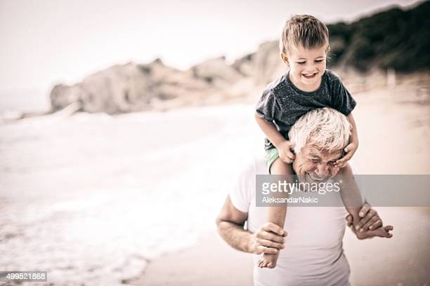 Grandpa y yo.