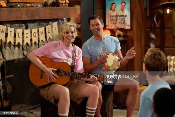WILL GRACE 'Grandpa Jack' Episode 105 Pictured Jane Lynch as Roberta Andrew Rannells as Reggie