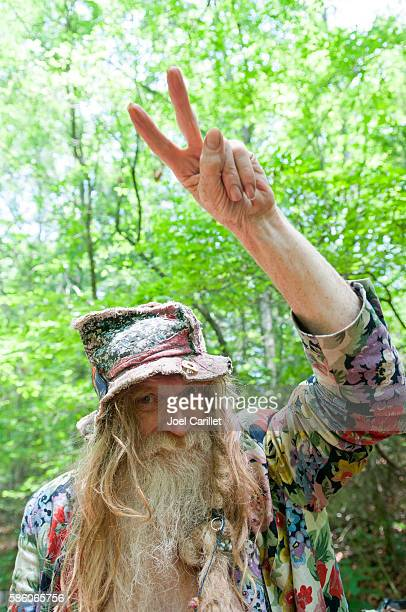 Grandpa Woodstock at Rainbow Gathering in Tennessee