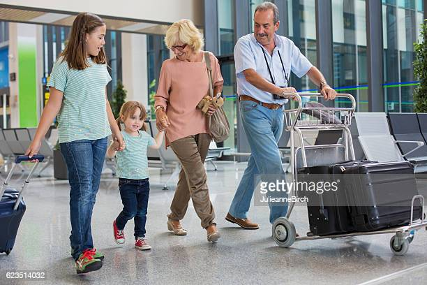 Grandparents and grandchildren go on holiday