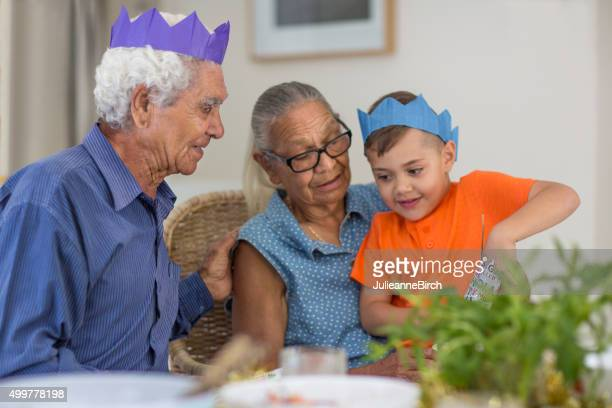 Grandparents and Grandson at Christmas