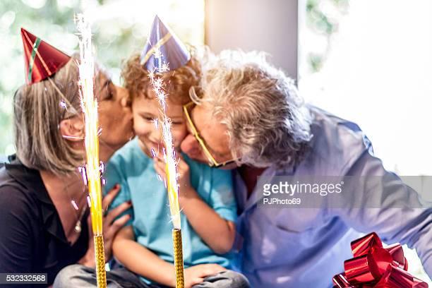 grandparents enjoys party with nephew - pjphoto69 bildbanksfoton och bilder