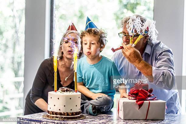 Grandparents enjoys party with nephew