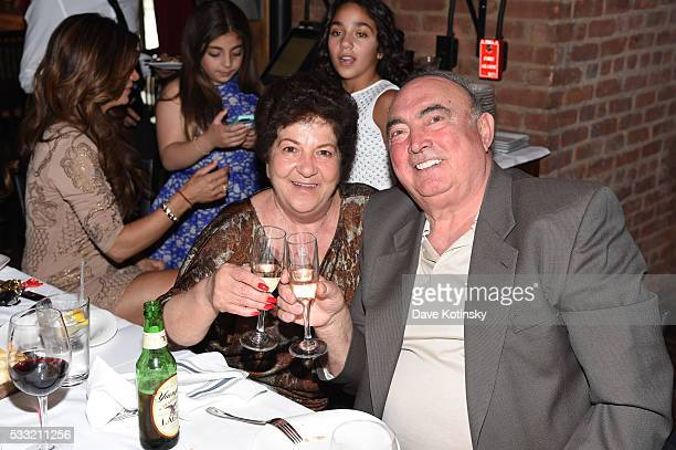 Grandparents Giacinto Gorga and Antonia Gorga celebrate their grandson's Gino Gorga's First Communion at Fresco on May 21 2016 in Montclair New Jersey