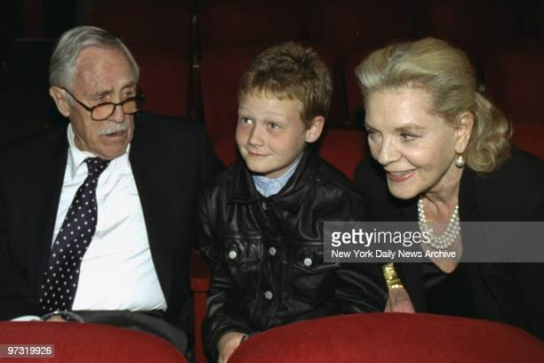 Grandparents Jason Robards and Lauren Bacall with grandson Jasper attending the Lucille Lortel Awards held at the Lucille Lortel Theater Robards...