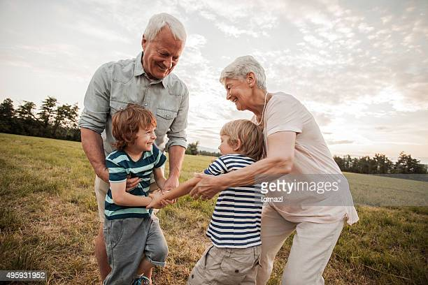 Grandparents trying to settle down their grandchildren