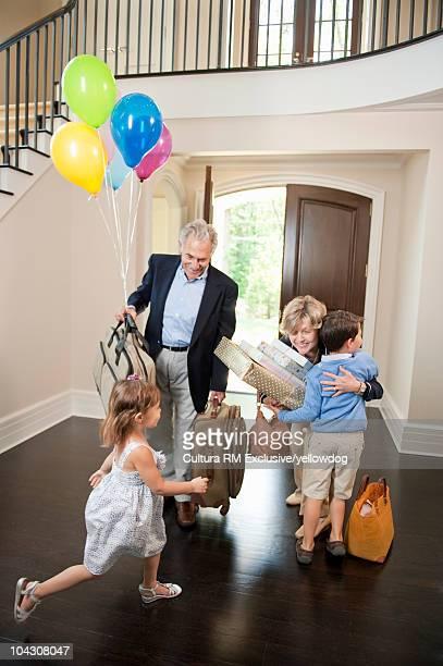 Grandparents visiting grandkids