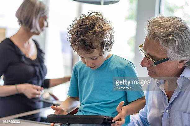 grandparents with their nephew - pjphoto69 stock pictures, royalty-free photos & images