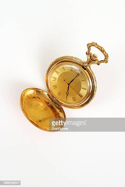 grandpa's gold jubilación reloj de bolsillo - charity benefit fotografías e imágenes de stock