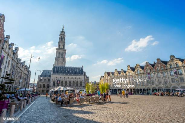 grand-place of the city arras, pas-de-calais department,  france - アラス ストックフォトと画像