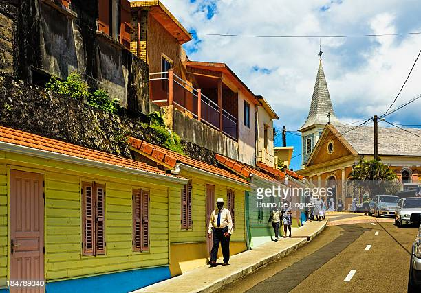 grand'riviere, martinique - martinique stock photos and pictures