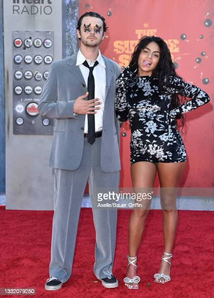 """Grandson and Jessie Reyez attend Warner Bros. Premiere of """"The Suicide Squad"""" at The Landmark Westwood on August 02, 2021 in Los Angeles, California."""