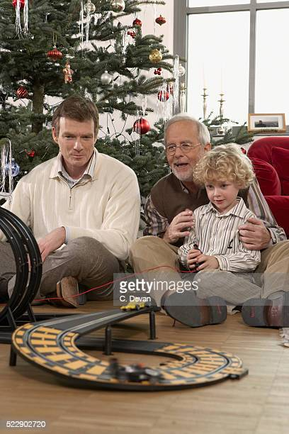 Grandson, Father and Grandfather at Christmas