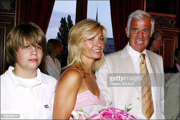 Grandson of Jean Paul Belmondo Natty and Jean Paul Belmondo in Paris France on June 28th 2004