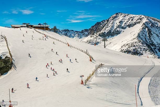 grandvalira ski resort in andorra - andorra stock pictures, royalty-free photos & images