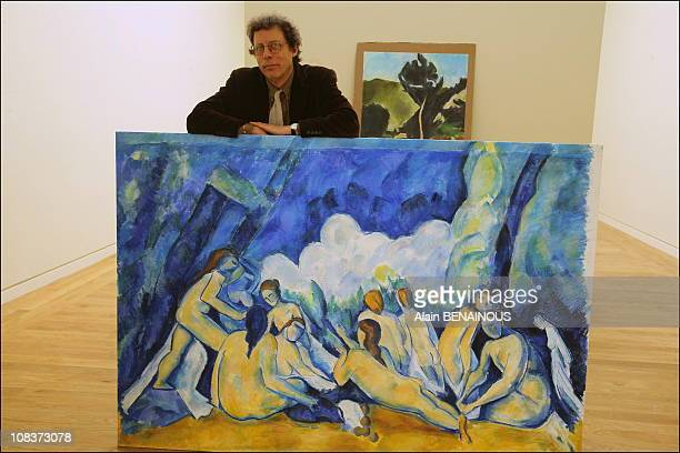 Granet Museum's curator Denis Coutagne prepares for the exhibit of 116 Cezanne paintings at the museum Coutagne has crafted himself 116 charcoal...