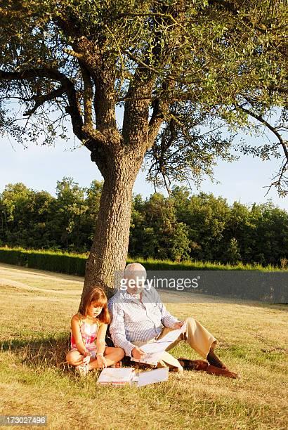 Granfather und grandaugther
