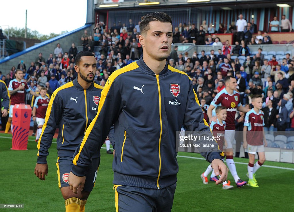 Granit Xhaka of Arsenal before the Premier League match between Burnley and Arsenal at Turf Moor on October 2, 2016 in Burnley, England.