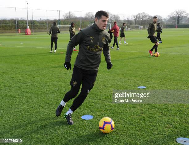 Granit Xhaka of Arsenal during a training session at London Colney on January 11 2019 in St Albans England