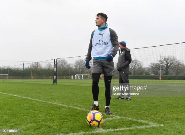 Granit Xhaka of Arsenal during a training session at London Colney on January 13 2018 in St Albans England