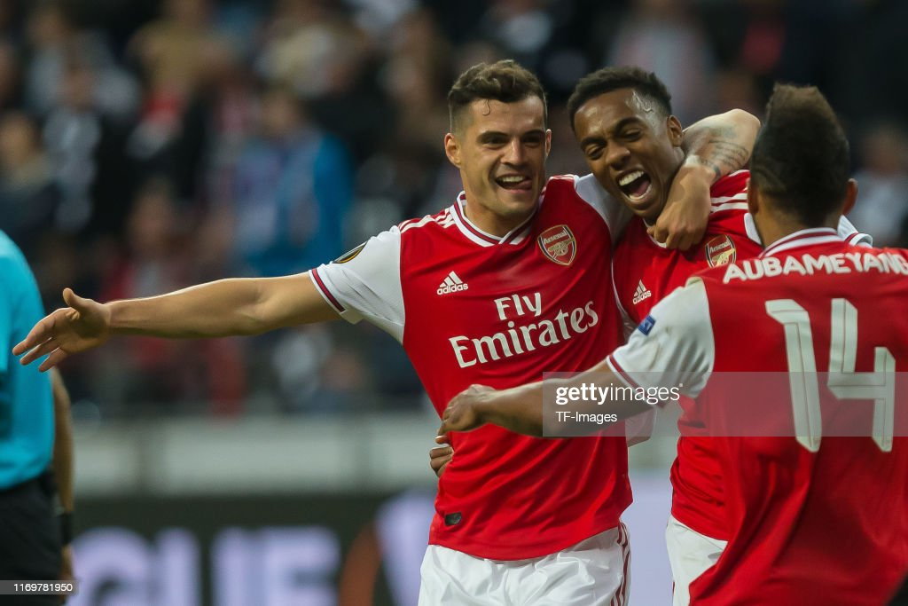 Eintracht Frankfurt v Arsenal FC: Group F - UEFA Europa League : Nieuwsfoto's