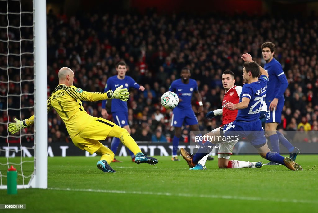 Arsenal v Chelsea - Carabao Cup Semi-Final: Second Leg : Nachrichtenfoto