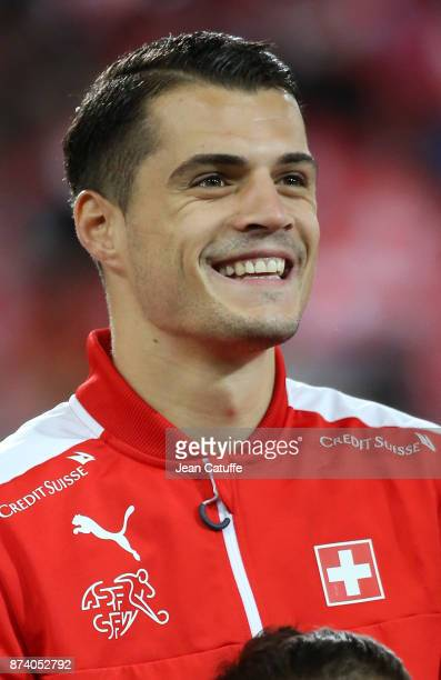 Granit Xhaka of Switzerland during the FIFA 2018 World Cup Qualifier PlayOff Second Leg between Switzerland and Northern Ireland at St JakobPark...