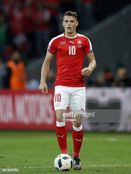 Granit Xhaka of Switzerland during the UEFA EURO 2016 Group A group stage match between Switzerland and France at the Stade PierreMauroy on june 19...