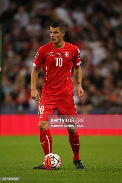 Granit Xhaka of Switzerland during the UEFA EURO 2016 Qualifier Group E England v Switzerland on September 8 2015 in London United Kingdom