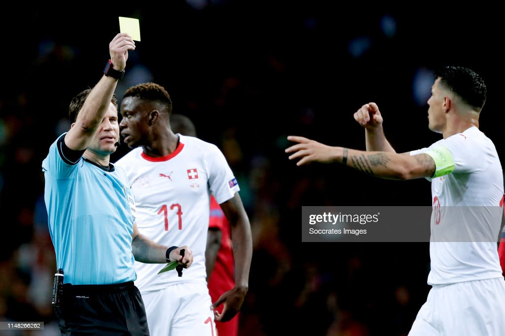 Image result for xhaka yellow caRD PORTUGAL