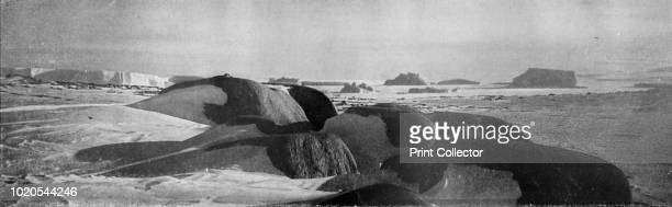 Granite Blocks Planed by Ancient Glaciers at Cape Roberts Fifteen Berg Appears to the South' circa 1911 The final expedition of British Antarctic...