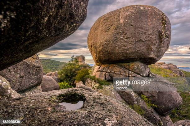 Granite boulders at the top of Cathedral Rock