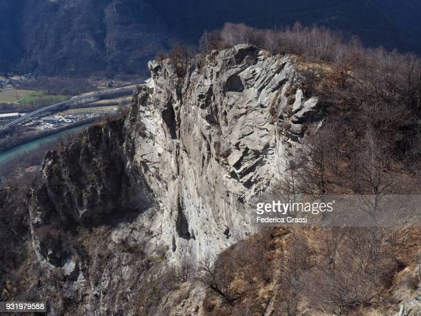 Granite Cliff on Montorfano, Northern Italy