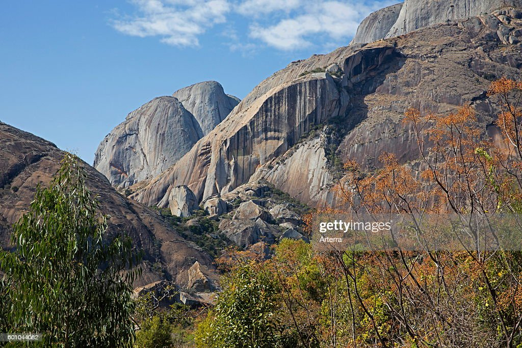 Granite cliffs in the Anja Community Reserve near Ambalavao : News Photo