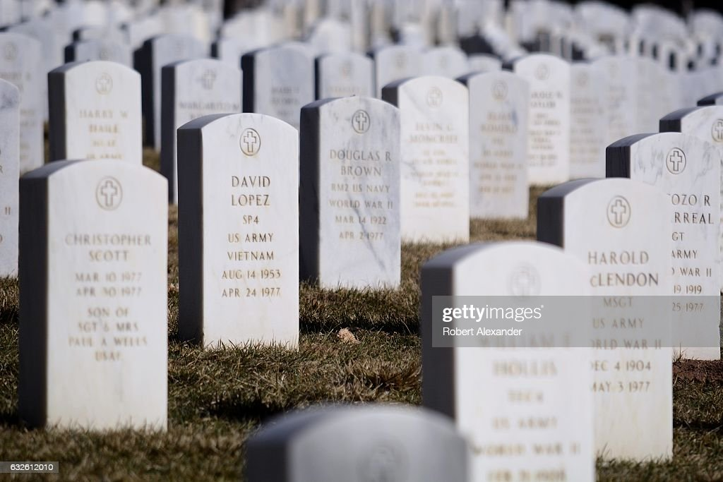 Granite Government Tombstones Mark The Graves Of Veterans At The News Photo Getty Images