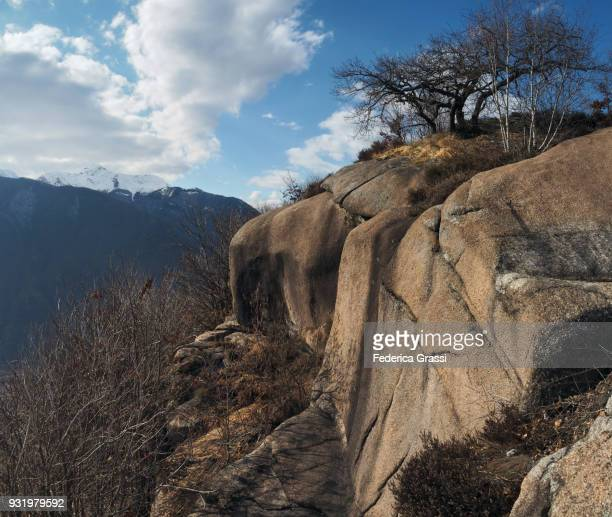 Granite Outcrop on Montorfano, Northern Italy