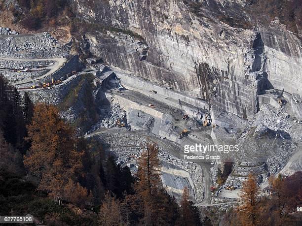 Granite Quarry In Onsernone Valley, Ticino, Switzerland