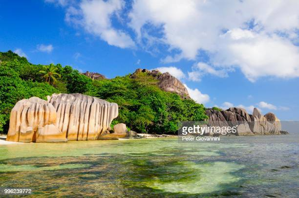 Granite rocks on Anse Source d'Argent beach, La Digue Island, La Digue and Inner Islands, Seychelles
